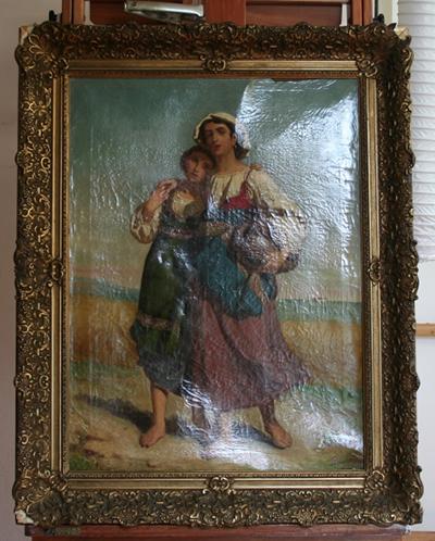 Gebobbeld schilderij herstellen